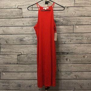 Velvet Torch Halter Midi Dress